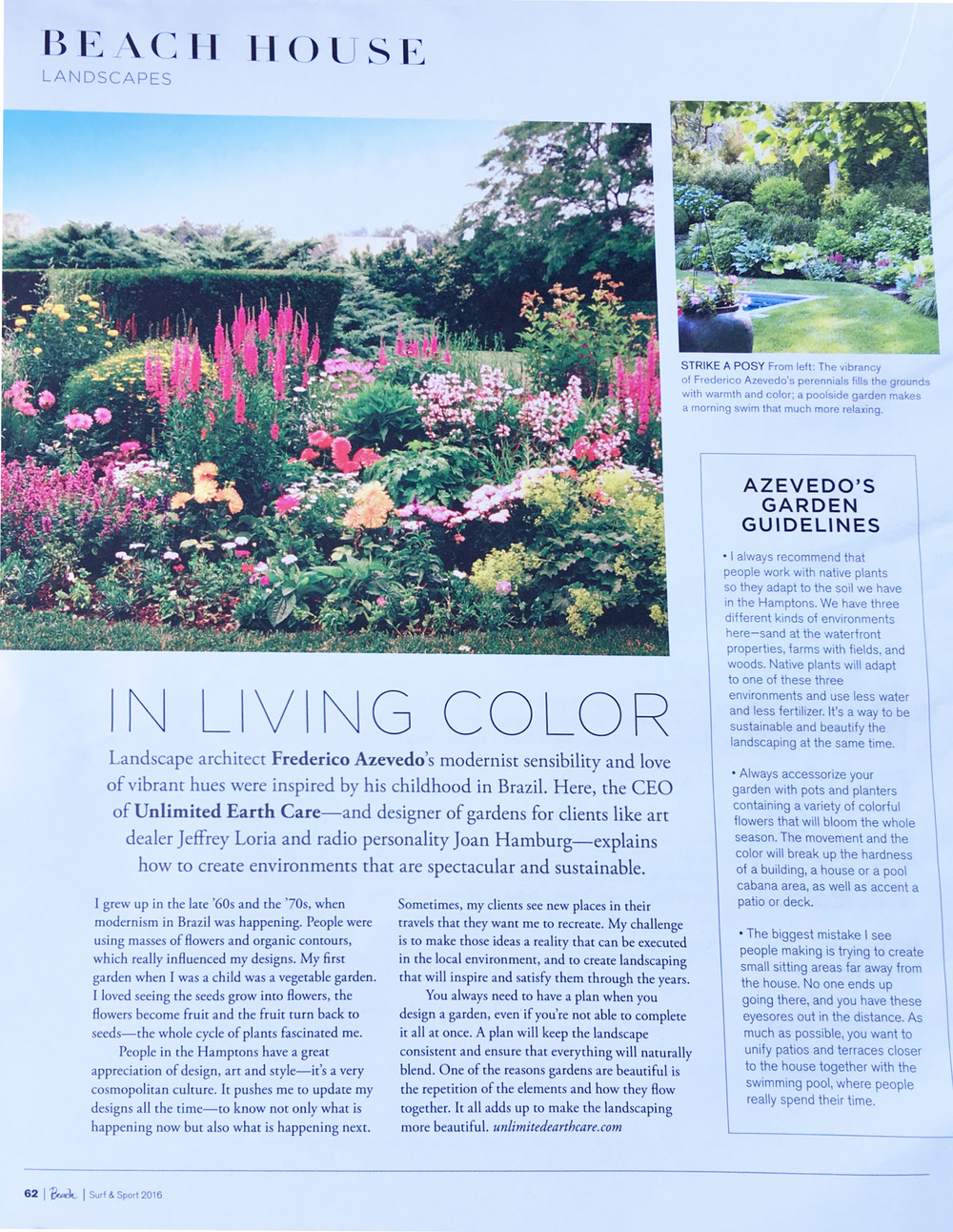 Beach Magazine, August 2016