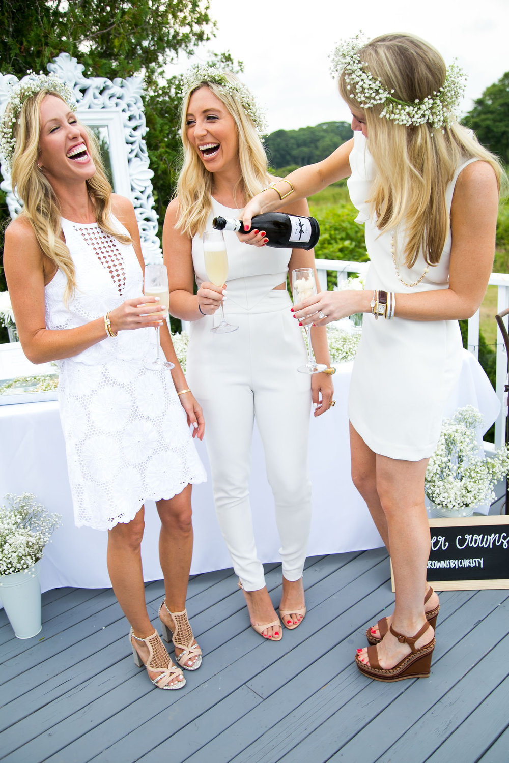 #BloomingEnBlanc White Party with Lauren Nelson and Amanda Gluck of @FashionableHostess