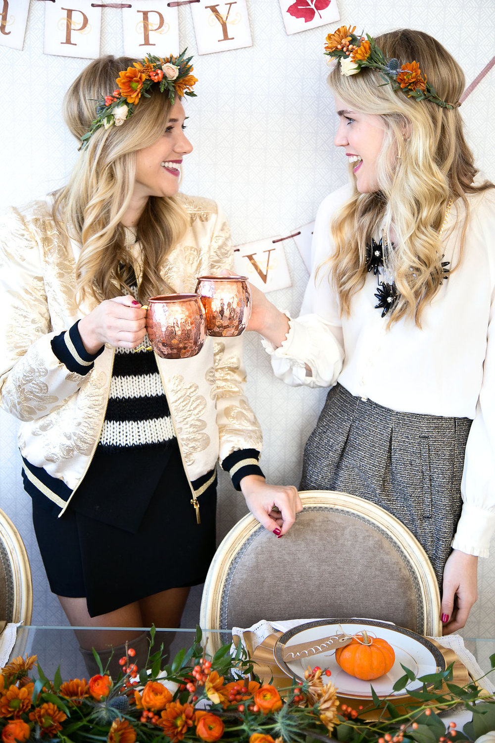 Cheers to #Friendsgiving with my co-host Katie Sands of @HonestlyKate