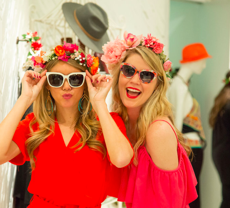 Shopping party with @HonestlyKate at Trina Turk