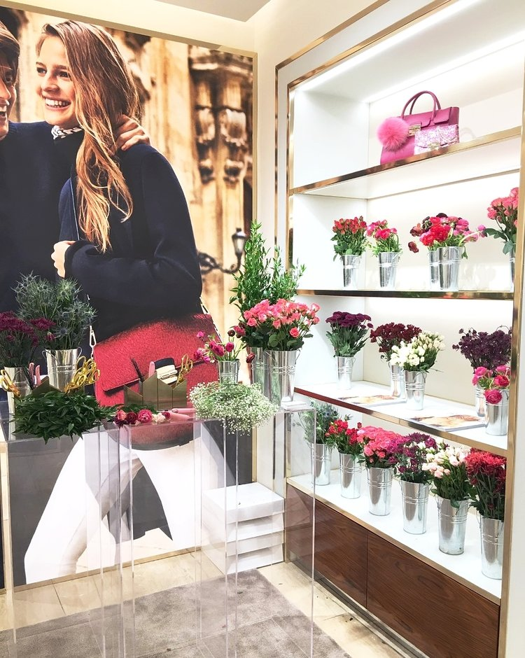 @CrownsbyChristy Flower Crown Bar at FURLA flagship store