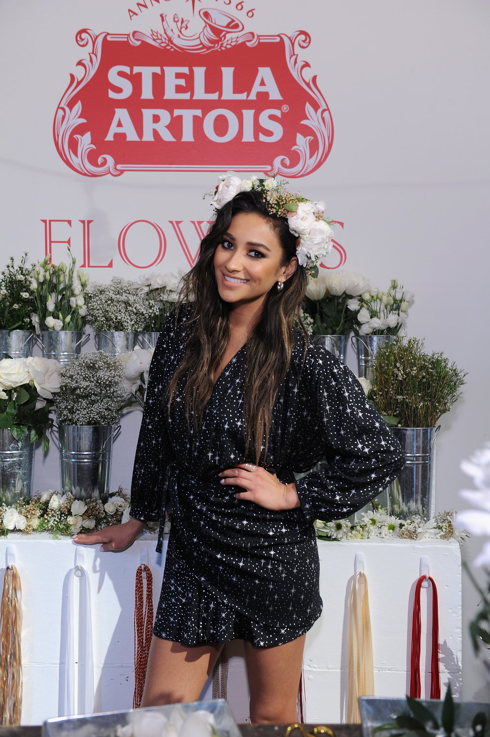 Shay Mitchell in one of our custom flower crowns