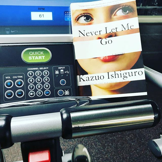 Last night's cardio. Spent 15 minutes talking about why I didn't like the book. Then, chapter 15 happened. *sigh* would have rather it not have taken 160 pages to get moving, but I'll take it. #cardio #iifym #powerlifting #74kg #squats #bench #deadlift #saturdaynight #literature #englishteacher #neverletmego