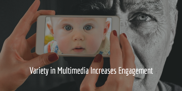 Variety in Multimedia Increases Engagement