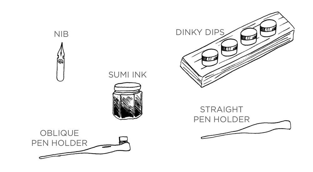 Beginner's Calligraphy Supplies -