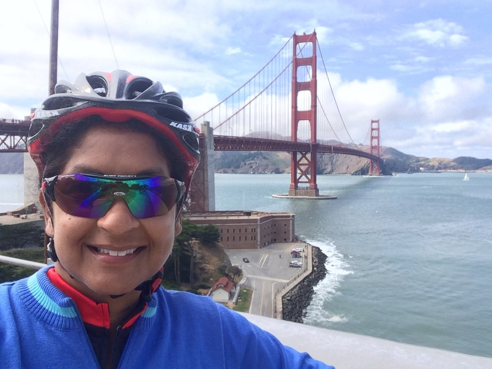 Shamini Dhana at Climate Ride California 2015