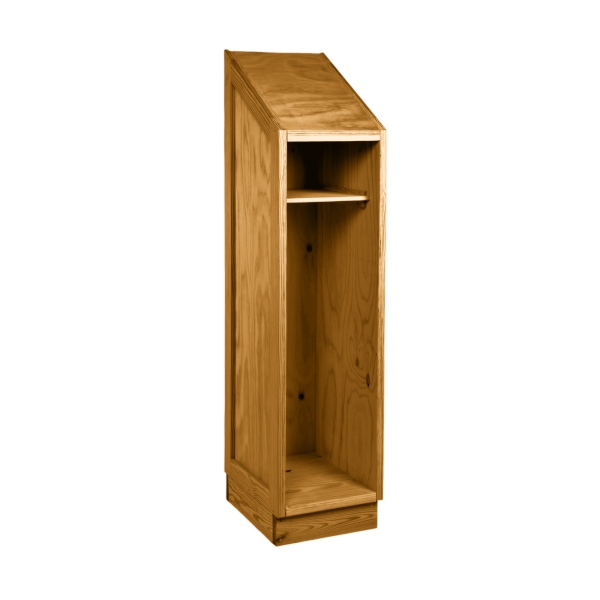 Safe & Tough Single Wardrobe - This End Up  Slope Top - No Doors - Available with One Shelf with Break-a-way J bar or all shelves