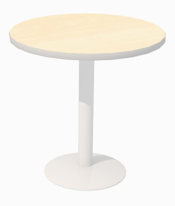 30in Round Laminate Counter Height Table with Disc Base