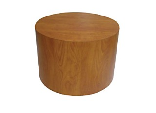 Cylindrical end Table in Mahogany