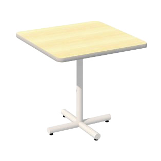 36 x 36 Laminate Top Table with Tube Base