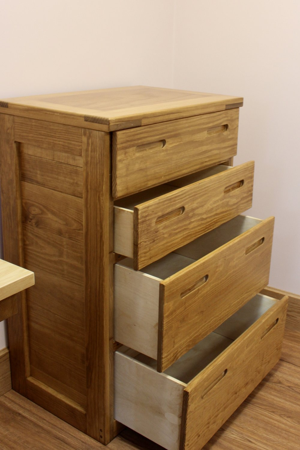 Classic Bureau with Wooden Drawer Box - No Metal Hardware