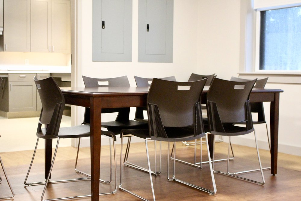 Laminate top Table with Duet Side Chairs