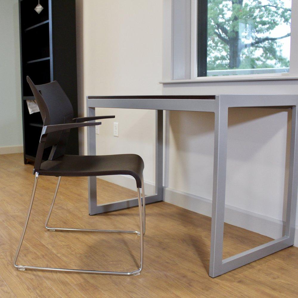 Ferrante Desk Silver/Cocobala