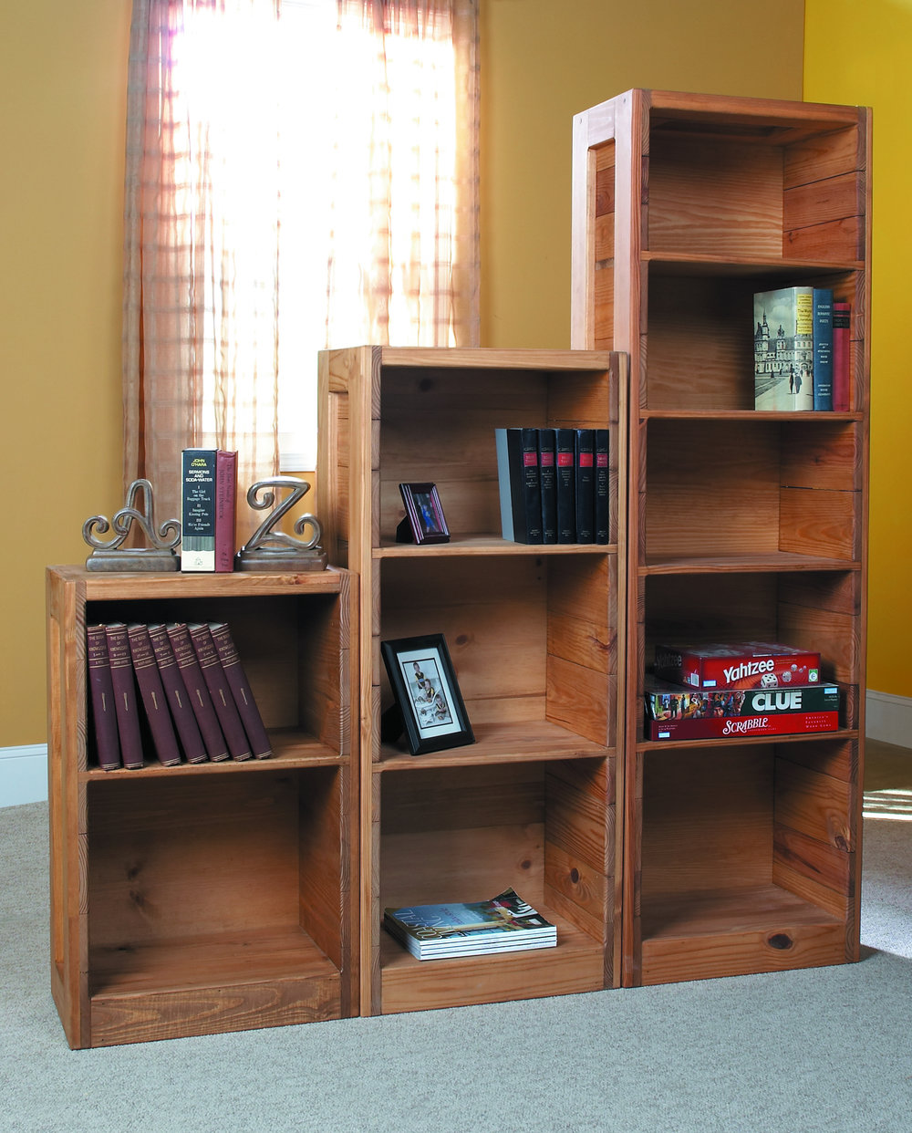 CLASSIC HALF BOOKCASES (SMALL $119, MEDIUM $262, LARGE $289) IN CHERRY FINISH