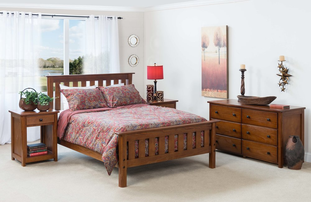 full size artisan bed In cherry