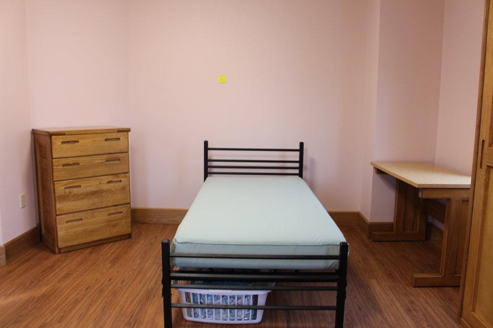 Classic bureau, empire bed, classic desk with laminate top