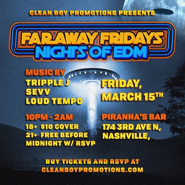 THIS FRIDAY WE BACK!! The littest weekly edm event in Nashville ! Come turn up with us ! ⚡️🌎