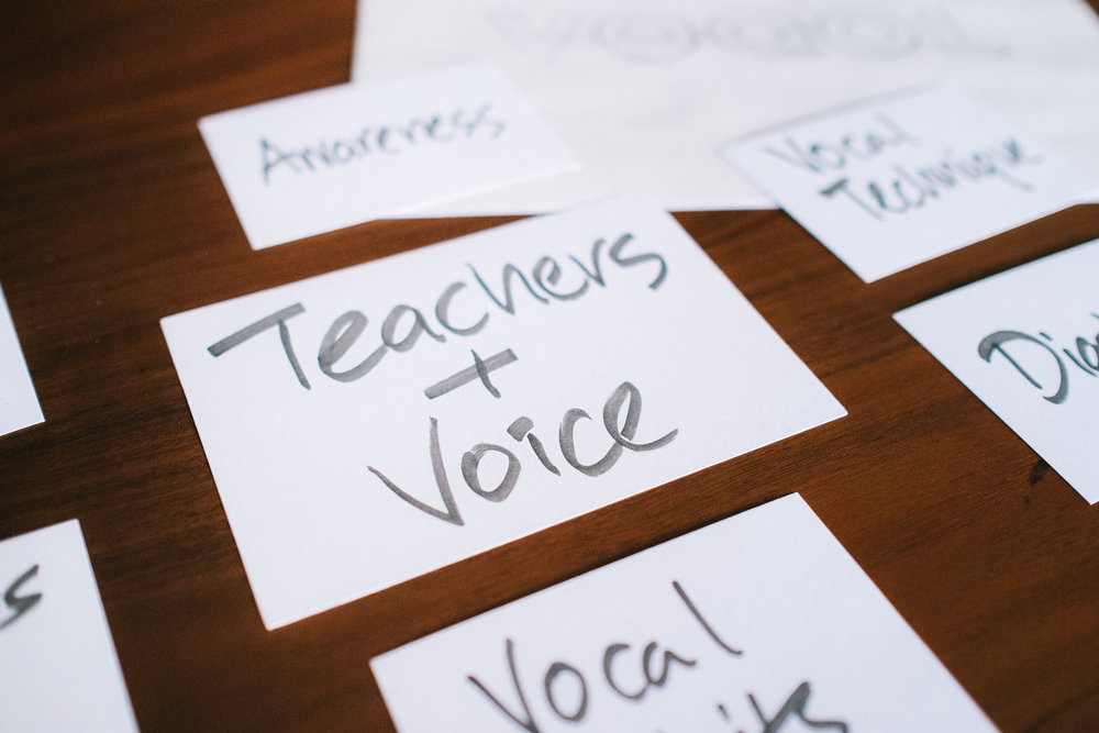 Teachers need their voice to function effectively.   ©Joel Tay, 2016 .
