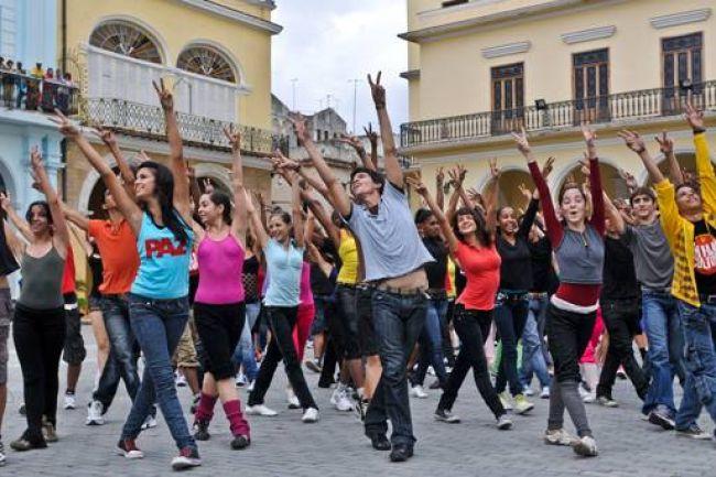 Flash-mob de danse.