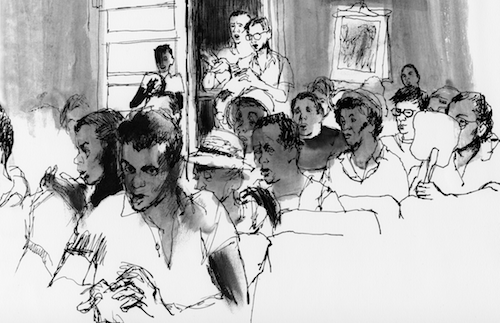 Ruleville Mass Meeting, 1964 by Tracy Sugarman with permission