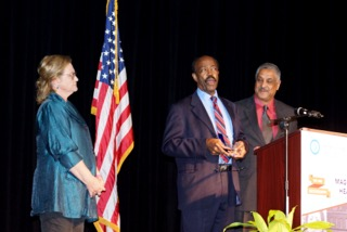 Melton Harris received the William F. Winter Legendary Public Official award from National Committee Member Will Colom