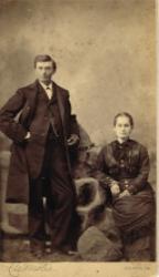 Tom Watson and Georgia Durham Watson. c.1878