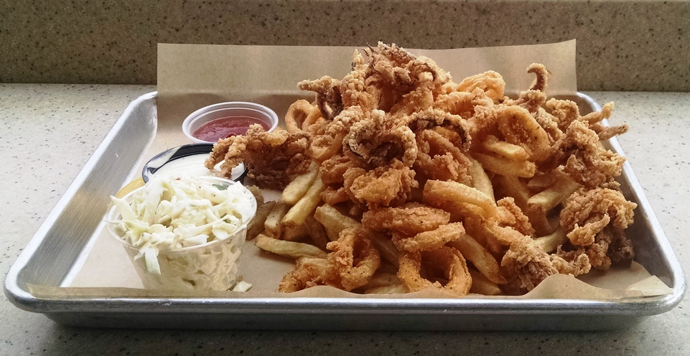 Fried calamari at Mitch's Seafood in San Diego.