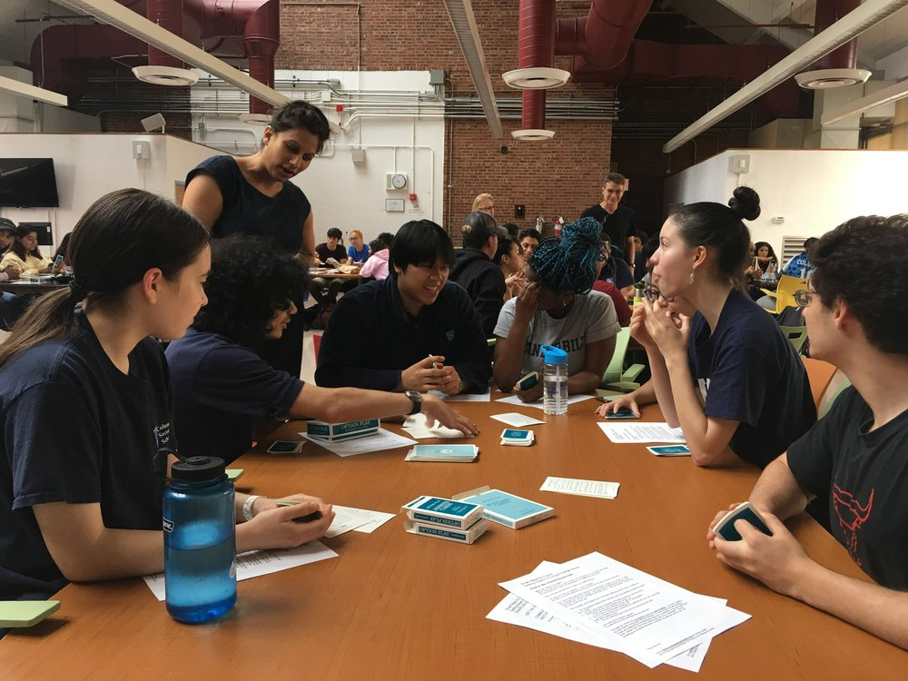 High School seniors at a Small Steps Go Places transition workshop