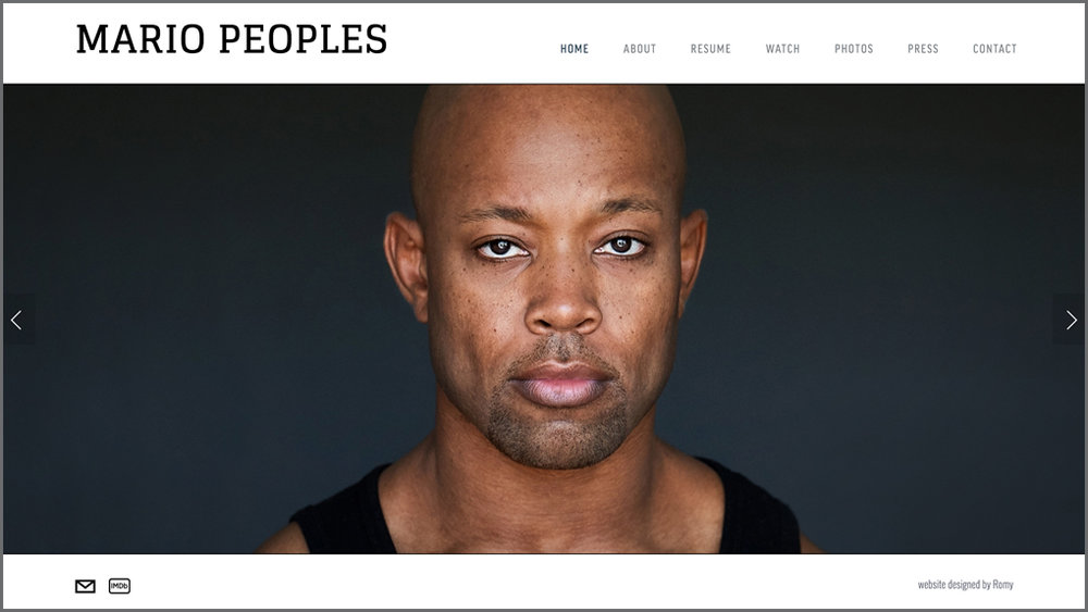 MARIO PEOPLES / actor