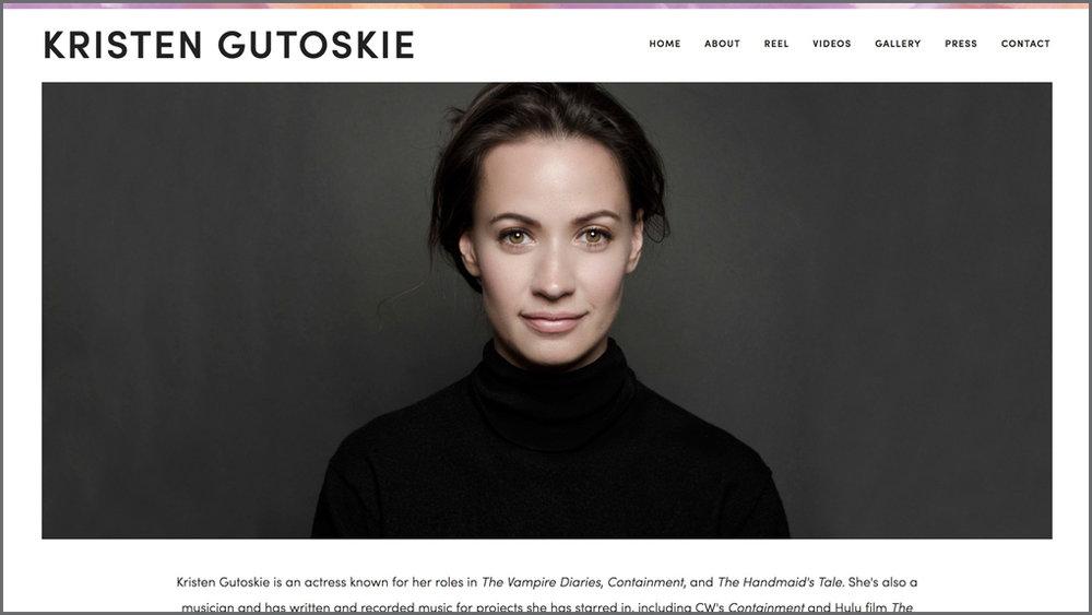 KRISTEN GUTOSKIE / actress, musician