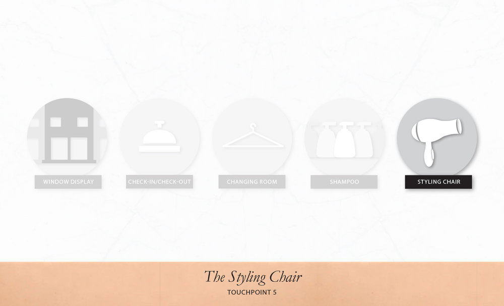TOUCH POINT 5: STYLING CHAIR