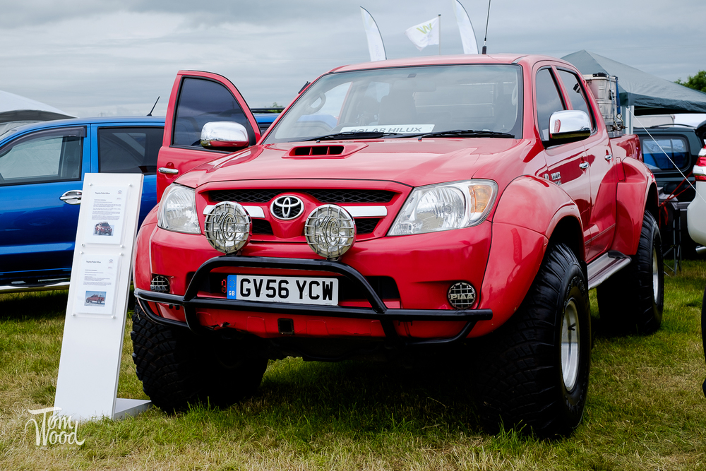 The Toyota Hilux from the Top Gear Arctic Expedition.