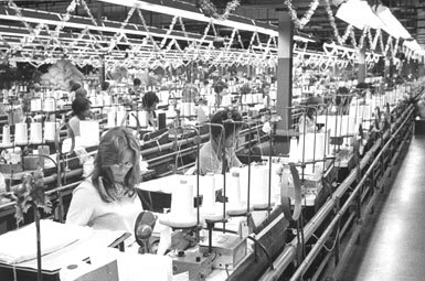 Weeks, shown here in 1976, was the largest manufacturing plant ever built in North Carolina when it opened in 1960.