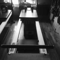 The Reformer is the workhorse of Pilates equipment. This versatile apparatus can be used for core, leg and arm work. Modified plyometrics can be performed using a Jumpboard accessory attachment.
