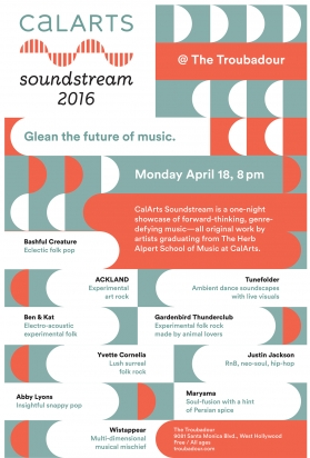 On Monday (April 18), The Herb Alpert School of Music at CalArts   presents new works...  click to read more
