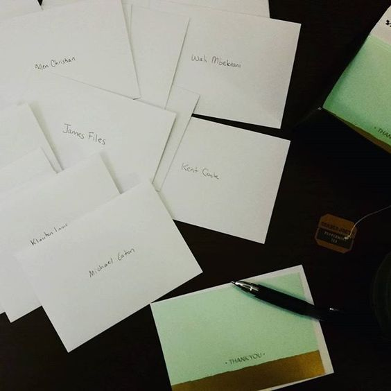 Nov 26. Almost finished with the thank you notes for my Kickstarter backers!!