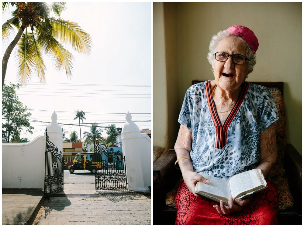 Sarah Cohen (right), one of the last Paradesi Jews in Cochin.