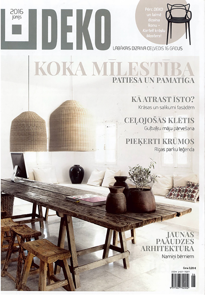 Elegant Deko Furniture. Deko Magazine 6 7/2016, Lithuania Deko Furniture