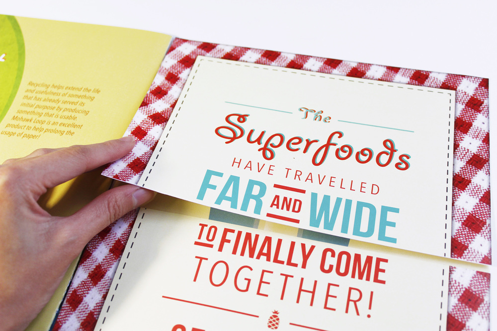 Center fold reveals what the Superfoods are up to!