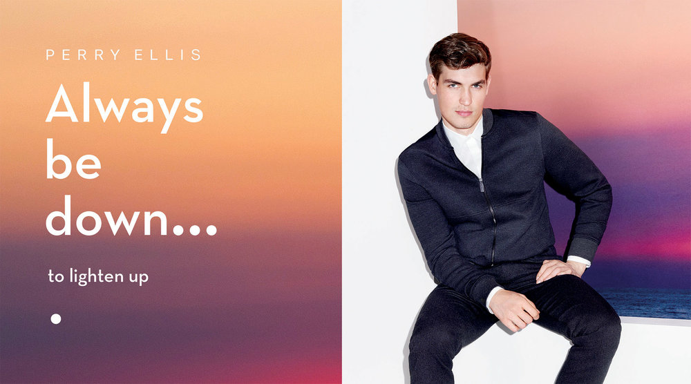 Perry Ellis fall 2017 store signage