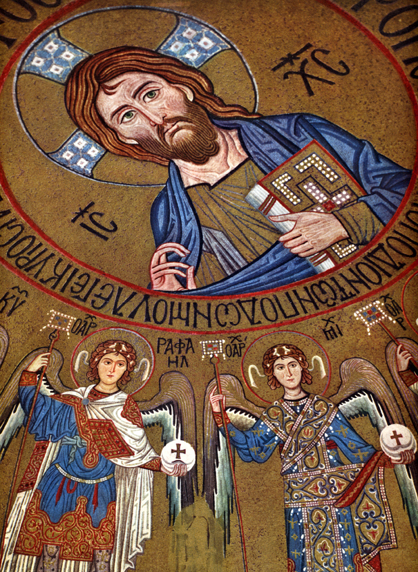 Pantocrator Surrounded by Archangels, mid 12th century, Capella Palatina di Palermo, Palermo, Italy