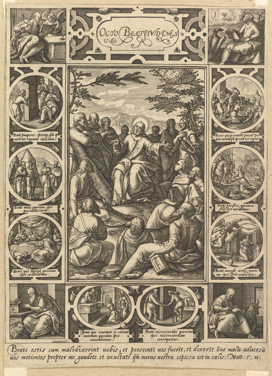 The Eight Beatitudes , Hendrick Goltzius, c. 1578