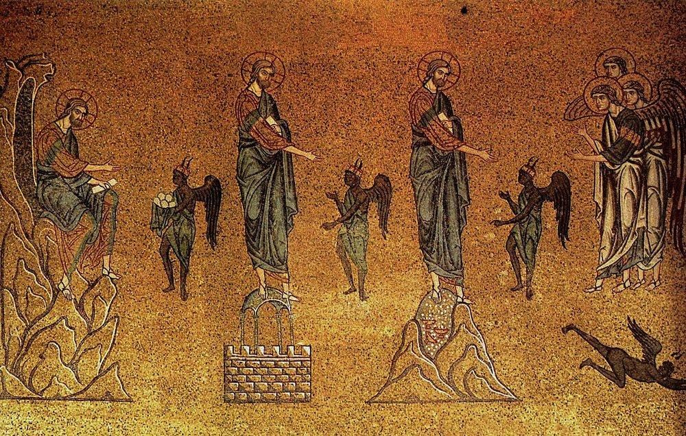 Temptation of Christ , St Mark's Basilica, Venice, 12th-century mosaic