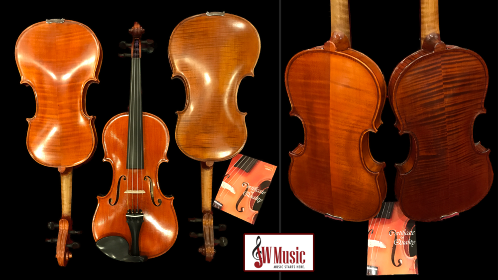 New full-size violins!