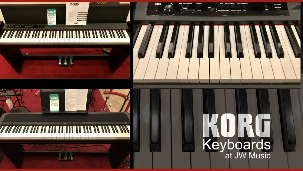 Just in time for the holidays! New Korg Keyboards at JW Music!
