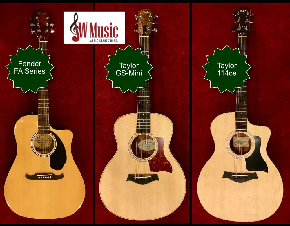 A small selection of acoustics at JW Music!