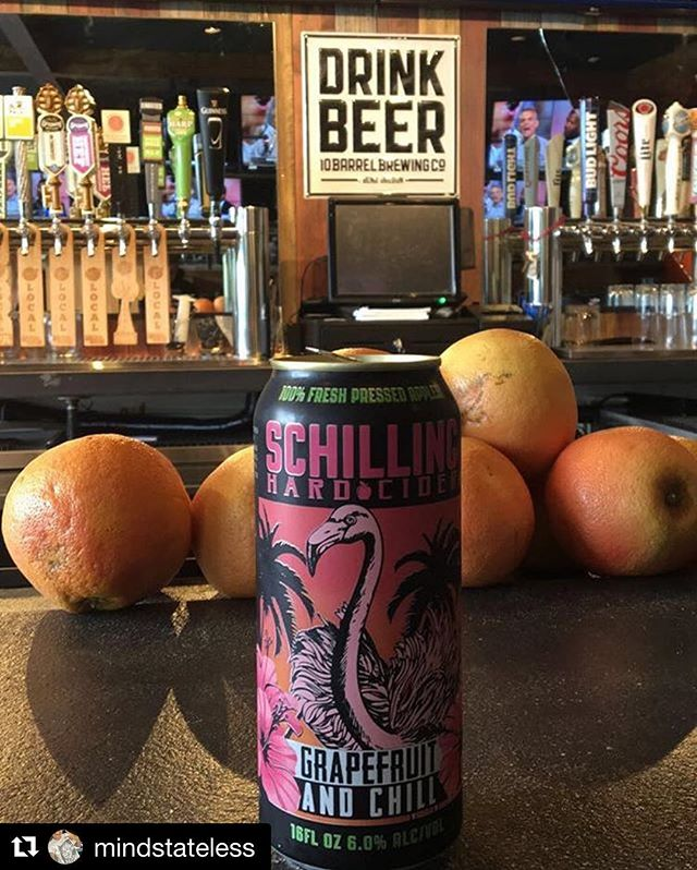 Thanks to @mindstateless for sharing a shot of @schillingcider's Grapefruit and Chill cider. A truly fun brew. #repost #omaha #omahabeer #draughthouse #omahane #nebraska