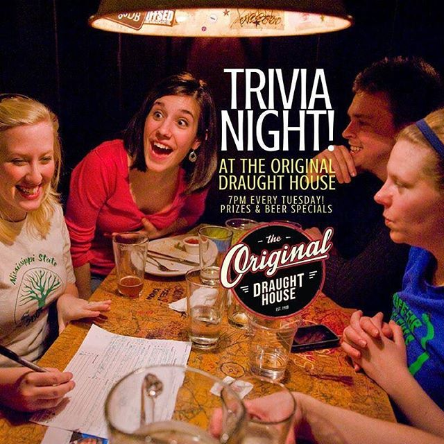 TRIVIA NIGHT! Bring your teams and your smarty self.