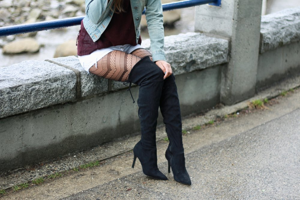 Tights boots