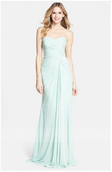 This dress feels a better fit for  simple wedding dresses . I do love the neckline and the gathered detailing.